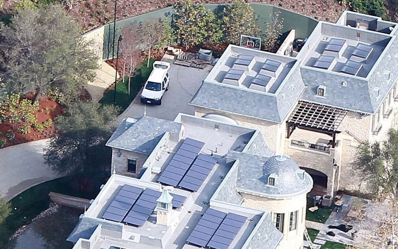 Tom Brady and Gisele Bundchen's solar powered home in california