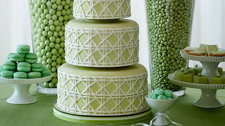 Green as a great color theme for weddings